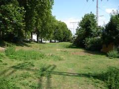 Blick über das Grundstück aus westlicher Richtung